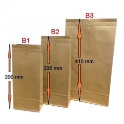Musterbeutel B3 aus Kraftpapier braun 240 x 415 x 50 mm