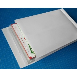 Faltentaschen DIN B4 250 x 353 mm weiß 40 mm Falte