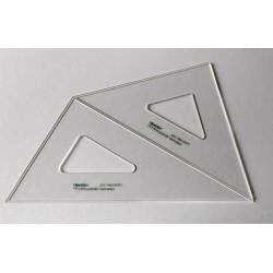 2x Set Geodreiecke Dreiecke mit Tuschkante 30-45-60-90°  NESTLER