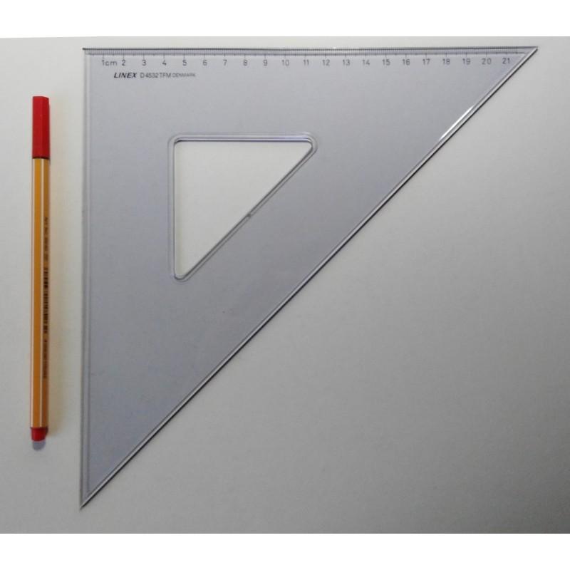 LINEX TZ-Geometrie-Dreieck groß mit Tuschkante und cm -Teilung D 4532 TFM 45°