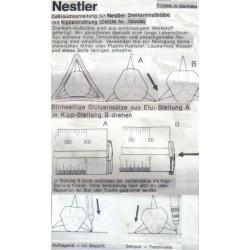 NESTLER College 6623 Vermesser Kartograph Reduktionsmaßstab Dreikantlineal 300mm