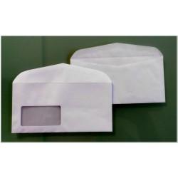 AN018 Briefumschläge weiß DIN lang 110x220 mm mit Fenster naßklebend Businessumschläge
