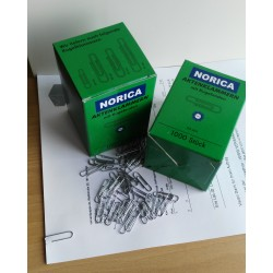 NORICA Büroklammern mit Kugelenden - 24 mm glatt, verzinkt. Aktenklammern 1000 St.
