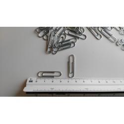 NORICA Büroklammern mit Kugelenden - 32 mm glatt, verzinkt. Aktenklammern 1000 St.