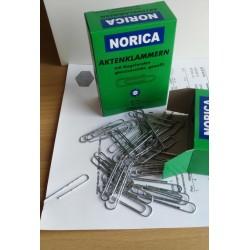 NORICA Büroklammern mit Kugelenden - 50 mm gewellt, verzinkt. Aktenklammern 100 St.