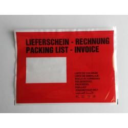 Dokumententaschen DIN C5 Lieferscheintaschen 235 x 175 mm Rechnungstaschen