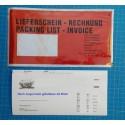 DL Dokumententaschen DIN lang 240x125 mm Lieferscheintaschen Rechnungstaschen LD