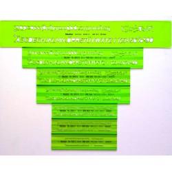 7x- Schriftschablonen Set...