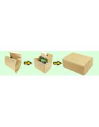 Versandkarton mit Automatikboden Selbstklebverschluss und Aufreißhilfe