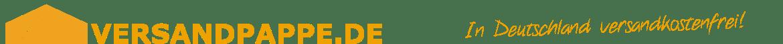 VERSANDPAPPE.DE Logo vom Onlineshop - der Shop für Versand Pappe